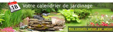 Consultez notre calendrier jardinage pour bien préparer la saison nouvelle